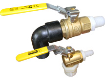 ATL Auxiliary Fuel Bladder 1 inch Ball Valve