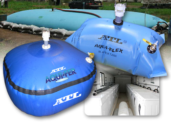 ATL Flexible Water Storage Solutions for Potable Drinking Water or Black Water (Sewage) & Flexible Liquid Storage Bladders for Emergency Response Efforts ...