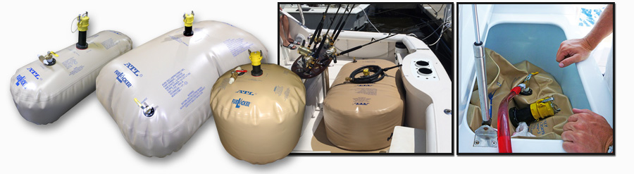 Marine Gas/Diesel/JP-8 Fuel Bladder Tanks and FueLockers for